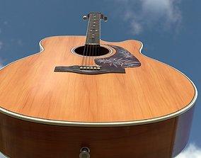 3D model PBR Acoustic Guitar