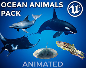3D model animated Ocean Animals Pack UE4 - Vol 1