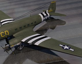 3D Douglas C-47 Dakota or Skytrain