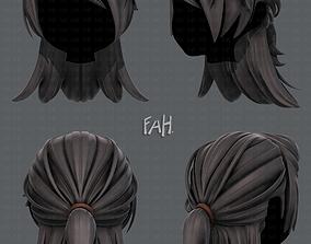 realtime 3D Hair style for girl V28
