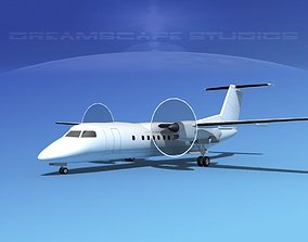 De havilland Canada DHC-8-Q300 LP SS 3D
