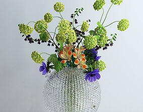 Viburnum Anemones Alstromeria and Fritilaria persica 3D