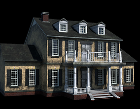 3D model Colonial Home with PBR Materials