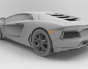 3D Lamborghini Aventador - no interior