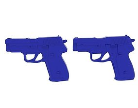 3D model Gun Blue Plastic