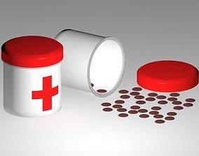 3D asset Pill and bottle