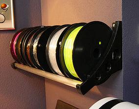 Wall mount spool holder for filament 3D printable model