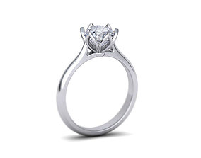 3D print model Engagement Solitaire ring Classic style