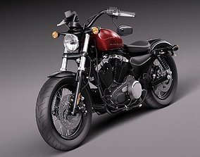 Harley-Davidson Sportster Forty Eight 2015 3D
