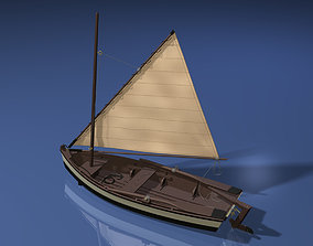 3D Wooden Sailboat Scale Model