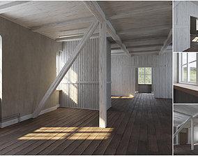 3D model Old building interior