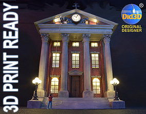 CourtHouse Back to the Future 1-45 Scale 3D print model