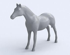 Horse 3D asset low-poly