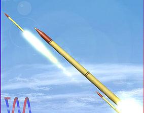 3D model Fadjr-3 and Fadjr-5 Rockets