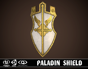 Paladin Shield 3D asset