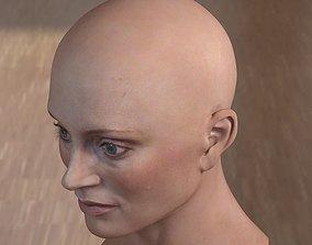 low-poly 3d model Lotte Verbeek head