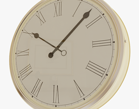 Wall Clock house 3D rigged