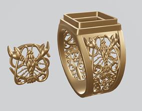 Cancer zodiac sign 3D print model