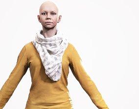 3D asset Human Woman Scan - 195F