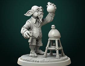 Goblin alchemist pre-supported 3D print model