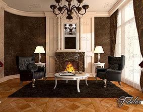 Living Room pillow 3D model
