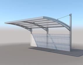Carport Design With Steel Construction 3D model
