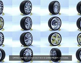3D model ORTAS CAR RIM 1-2-3-4-5-6-7-8-9-10 GAME READY