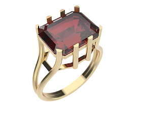 Ring 3D print model precious rings