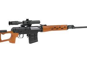 sniper Dragunov Sniper Rifle 3D