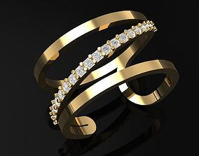 TJ 54 3D Golden Catier ring precious