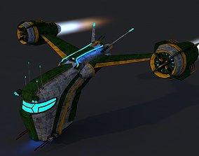 Spaceship 2 3D asset