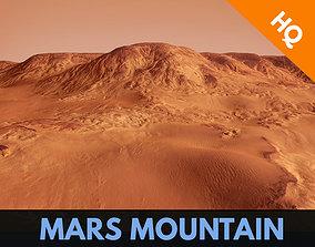3D asset Mars Planet Landscape Desert Mountain Cliffs 3