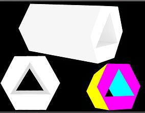 Hexagon - Triangle Hole 3D model