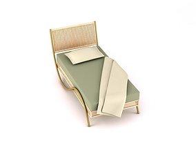 3D Classic Wooden Bed classic-furniture