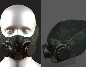 3D model Gas mask helmet scifi fantasy armor hats military