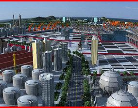 3D model Refinery Port Harbour collection 3