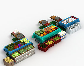 Vegetable Stand Market 3D model