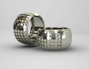 Earrings cubes 1mm 3D printable model