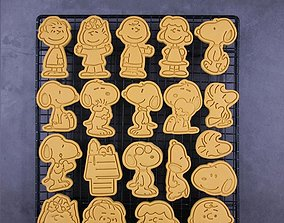 Snoopy Cookie Cutters set of 20 3D print model