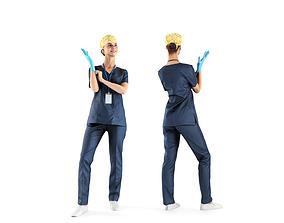 Female surgical nurse 22 3D asset