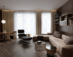 Super livingroom and kitchen project 3D