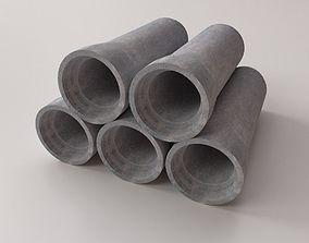 Concrete Drainage Tube 3D model