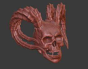 3D print model hell skull