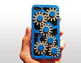 Mechanical Gears Iphone Case 4 4s 3D printable model