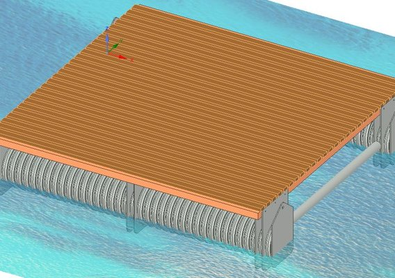 Project design of pontoons of Mooring facilities