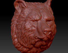 jewerly 3D printable model the head of the bear