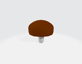 tree 3D asset Low-Poly Cartoon Shiitake Mushroom