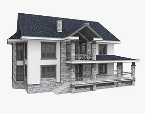 3D model Individual House Cottage
