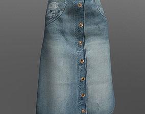 Denim skirt 3D model