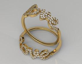 Love ring Size 6 3D printable model